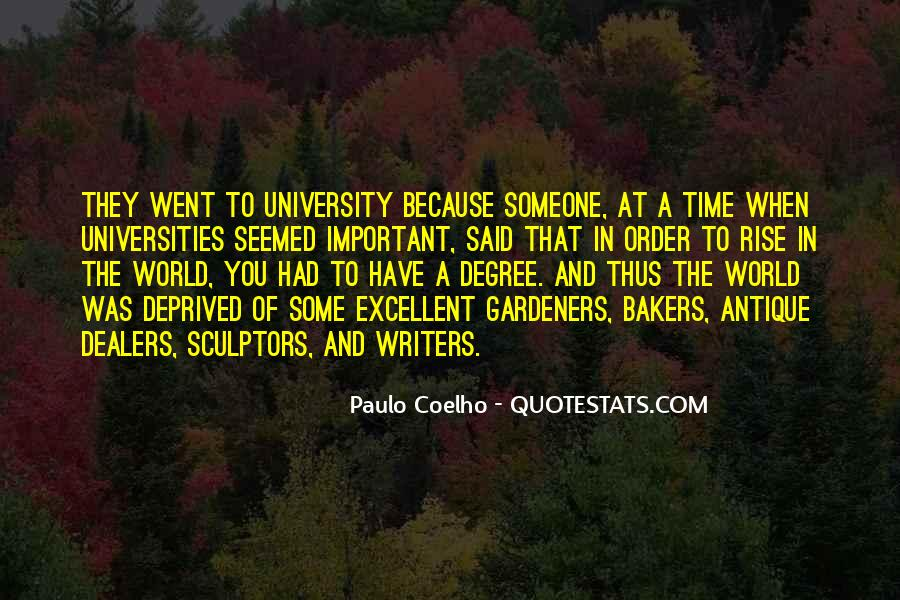 Quotes About University Degree #1561529