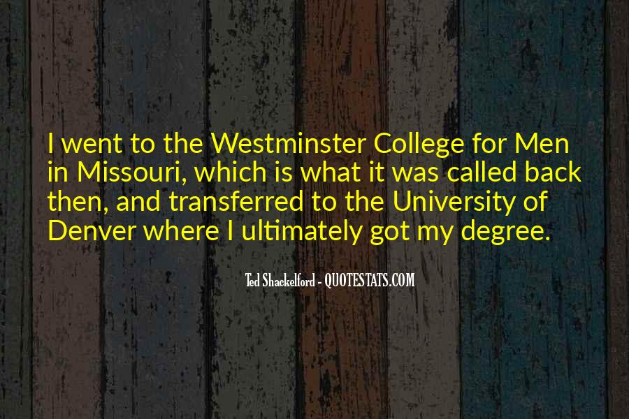 Quotes About University Degree #966887