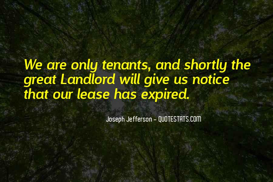 Quotes About Tenants #1387447
