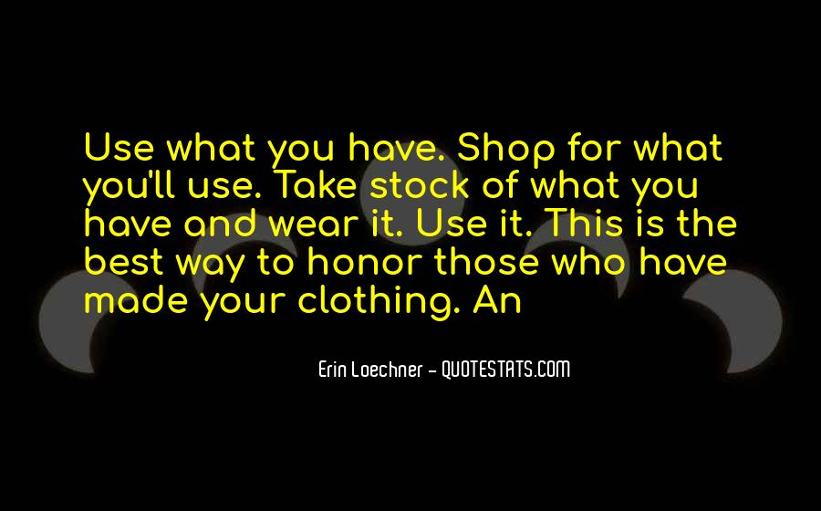 Quotes About Clothing #186352