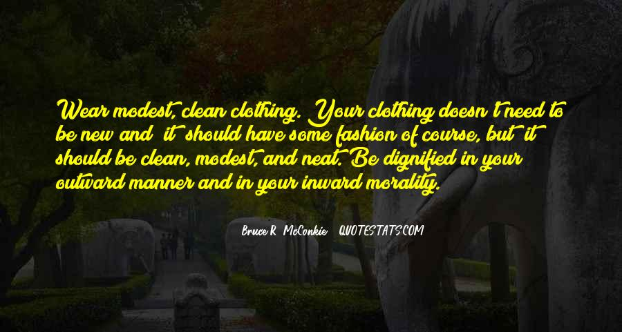 Quotes About Clothing #47756
