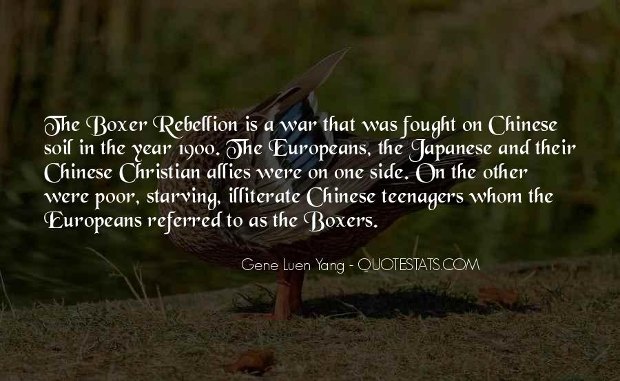 Quotes About The Boxer Rebellion #1264156