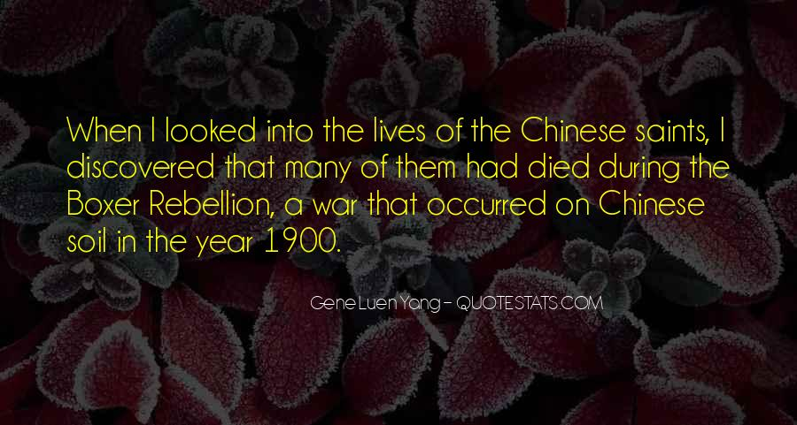 Quotes About The Boxer Rebellion #632465