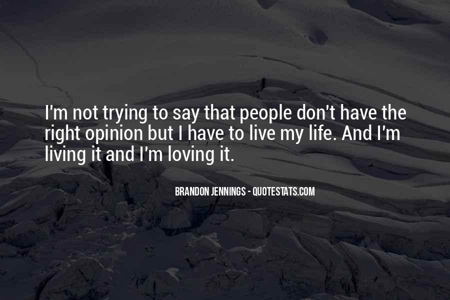 Quotes About Trying To Live Life #1026353