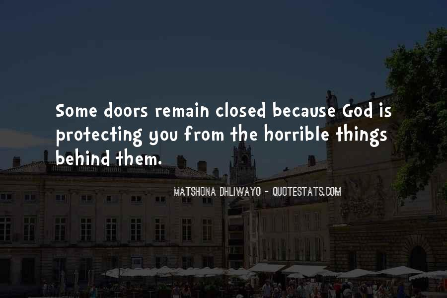Quotes About Closed #2042