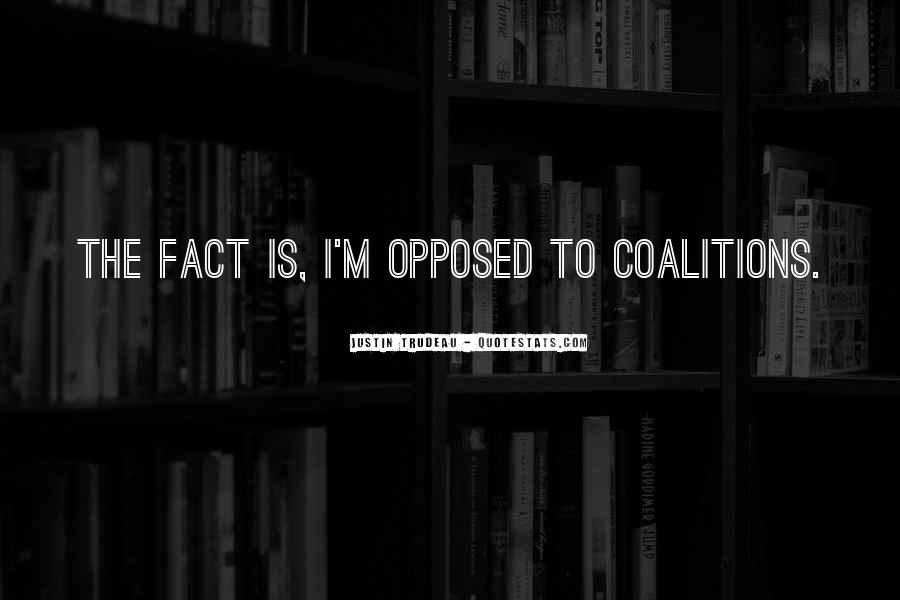 Quotes About Coalitions #762771