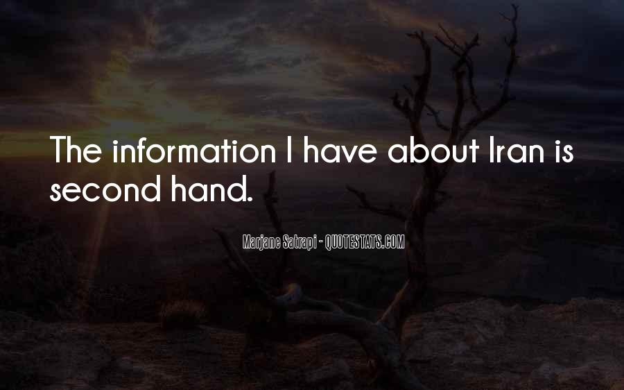 Quotes About Second Hand Information #659199