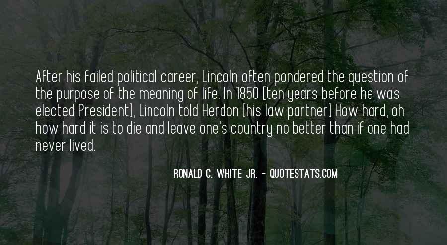 Quotes About President Lincoln #109725