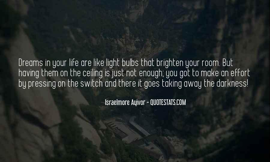 Quotes About Darkness And Light #48297