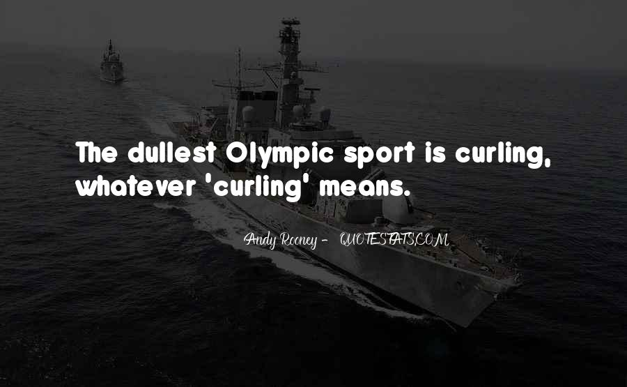 Quotes About Curling Sport #391071