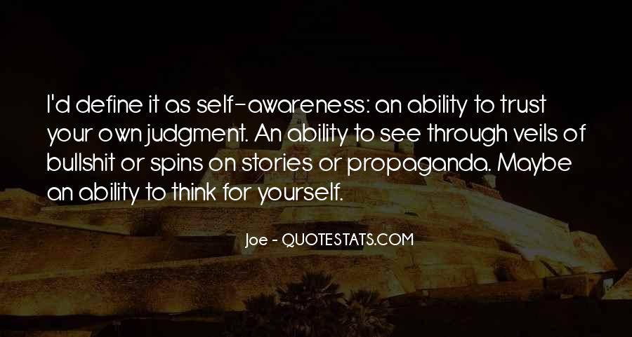 Quotes About Awareness Of Self #240741