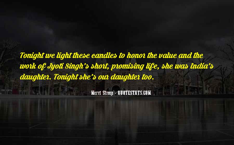 Quotes About Light Of Candles #1220535