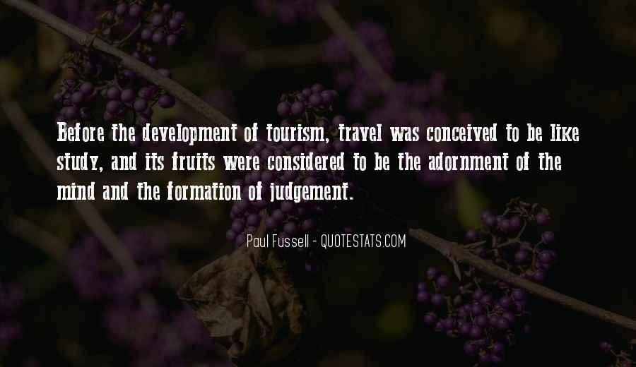 Quotes About Tourism Development #224988