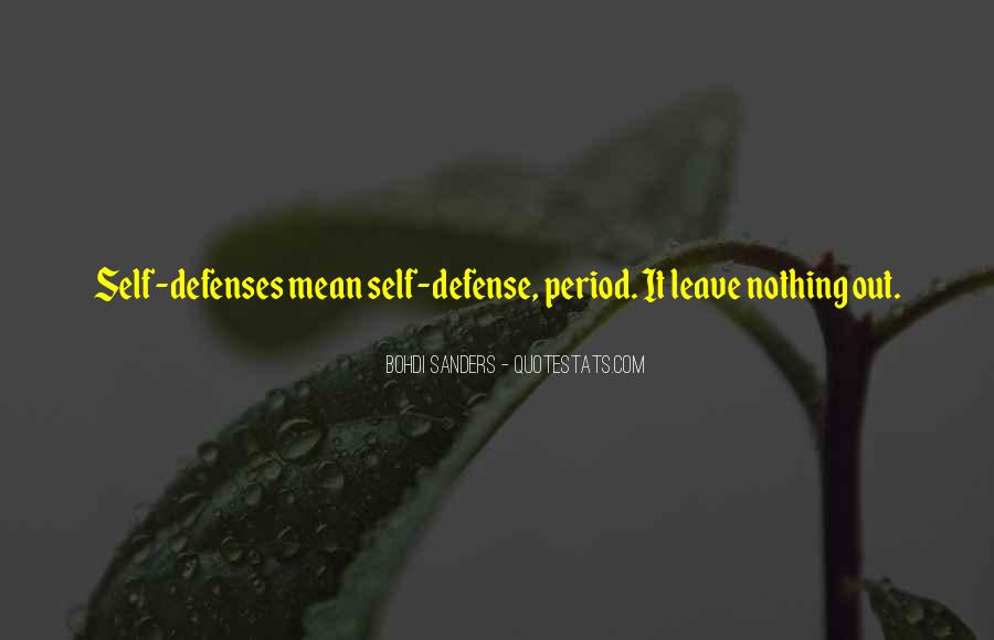 Quotes About Defenses #1232909