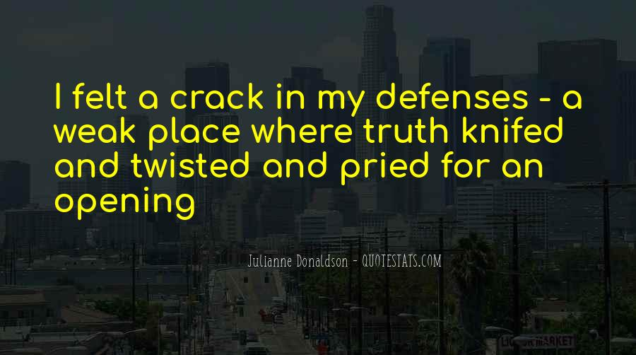 Quotes About Defenses #13533