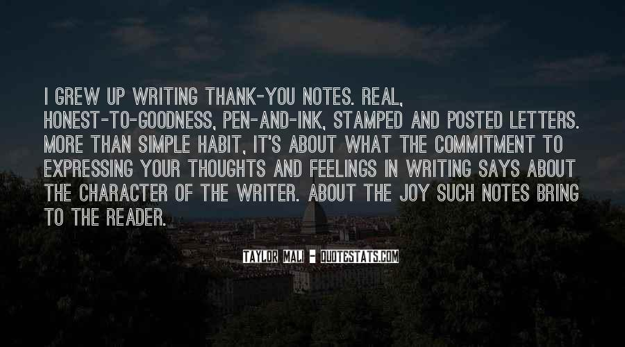 Quotes About The Joy Of Writing #43338
