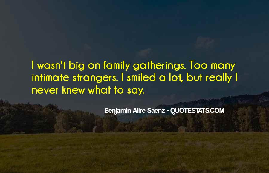Quotes About Family Gatherings #122876