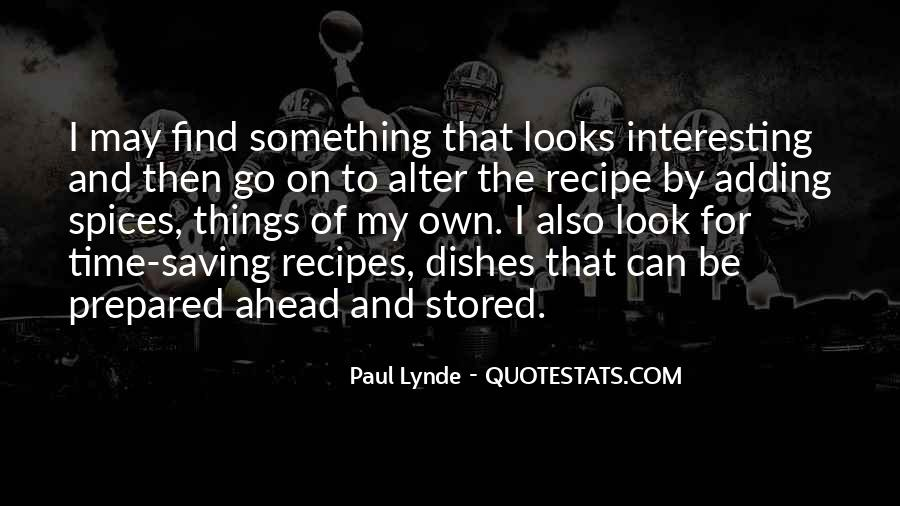 Quotes About Recipes #120932