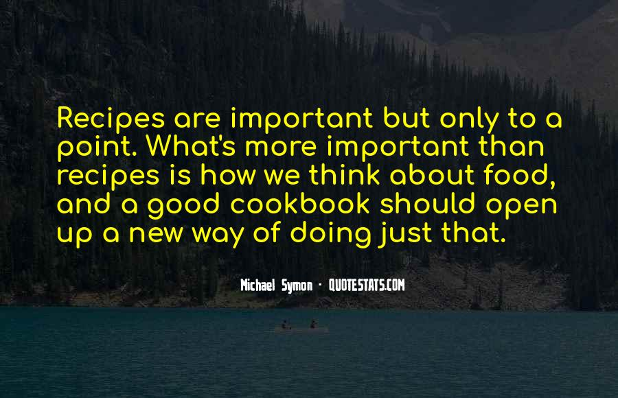 Quotes About Recipes #479297