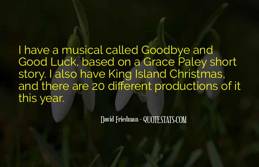 Quotes About Goodbye And Good Luck #3920