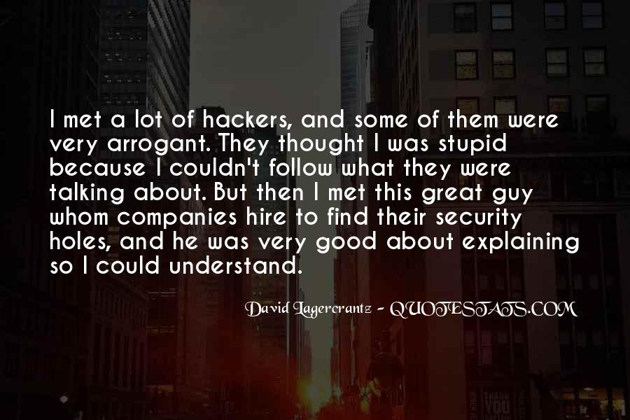 Quotes About Hackers #116664