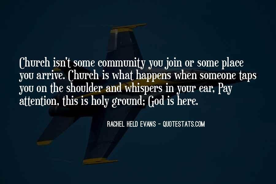 Quotes About Community And Church #1005295