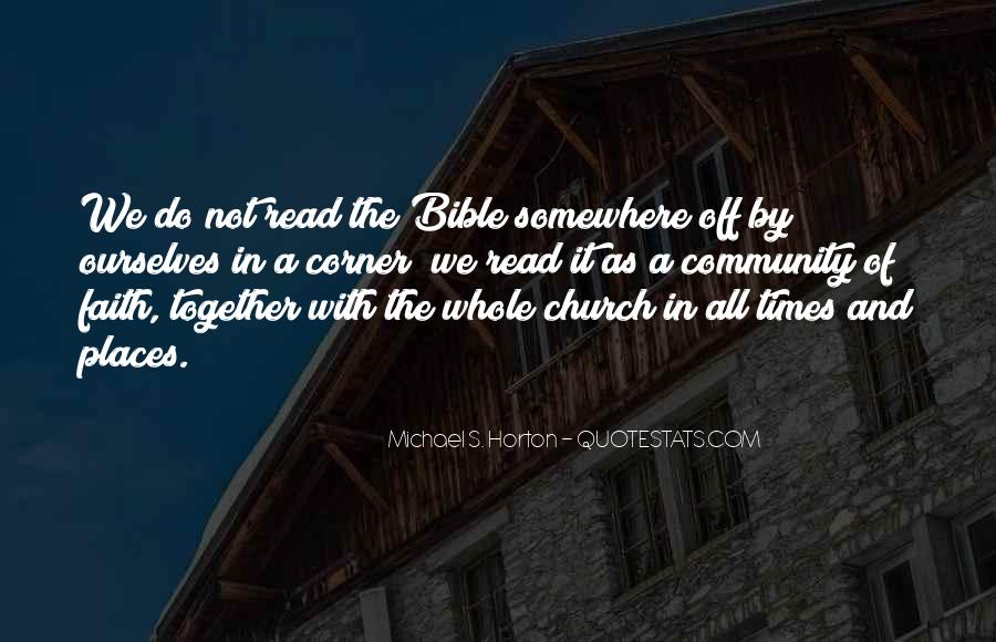 Quotes About Community And Church #1340785