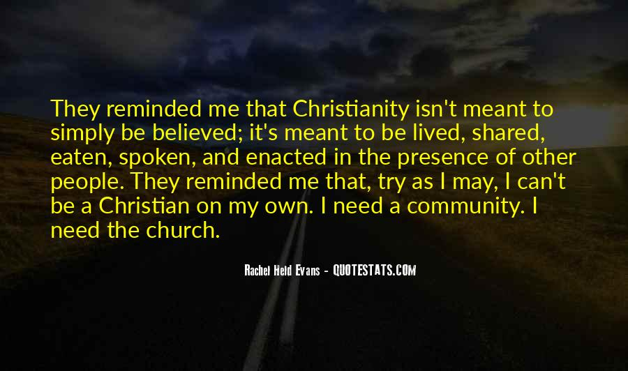 Quotes About Community And Church #152934