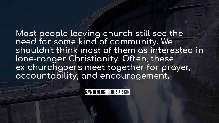 Quotes About Community And Church #939849