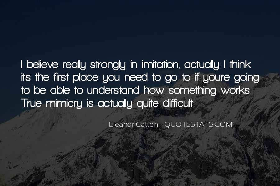 Quotes About Mimicry #38490