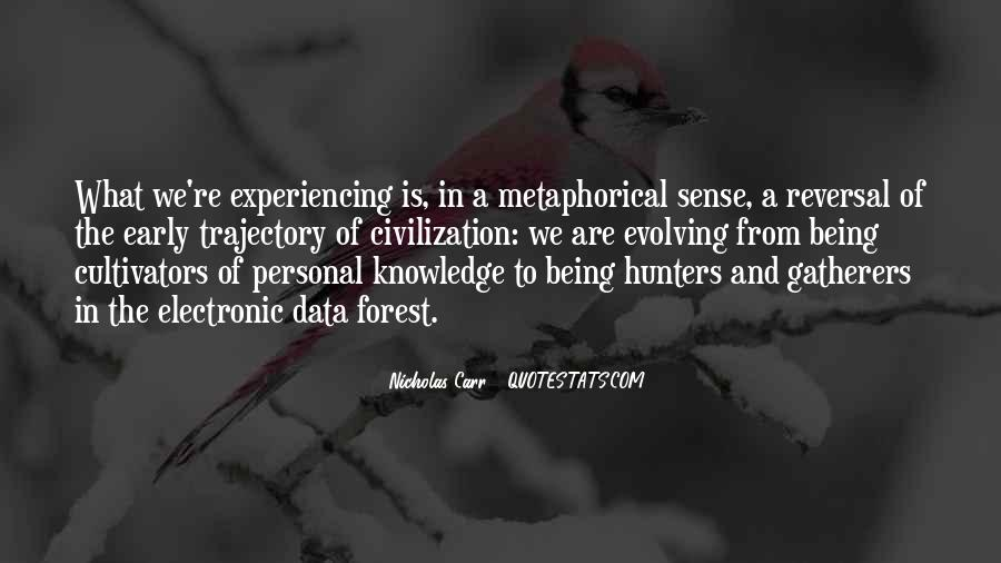 Quotes About Hunters And Gatherers #416097