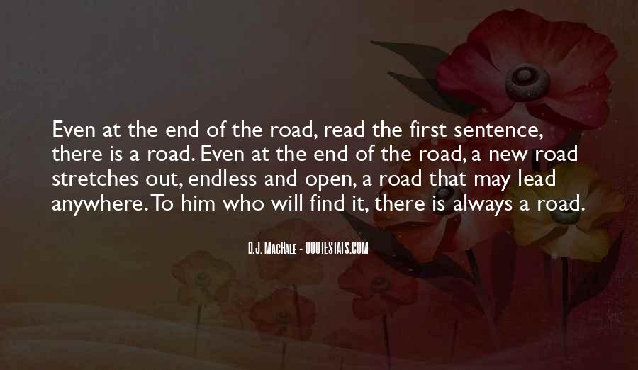 Quotes About The End Of The Road #105990