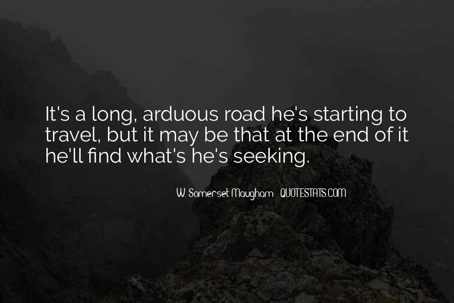 Quotes About The End Of The Road #961148