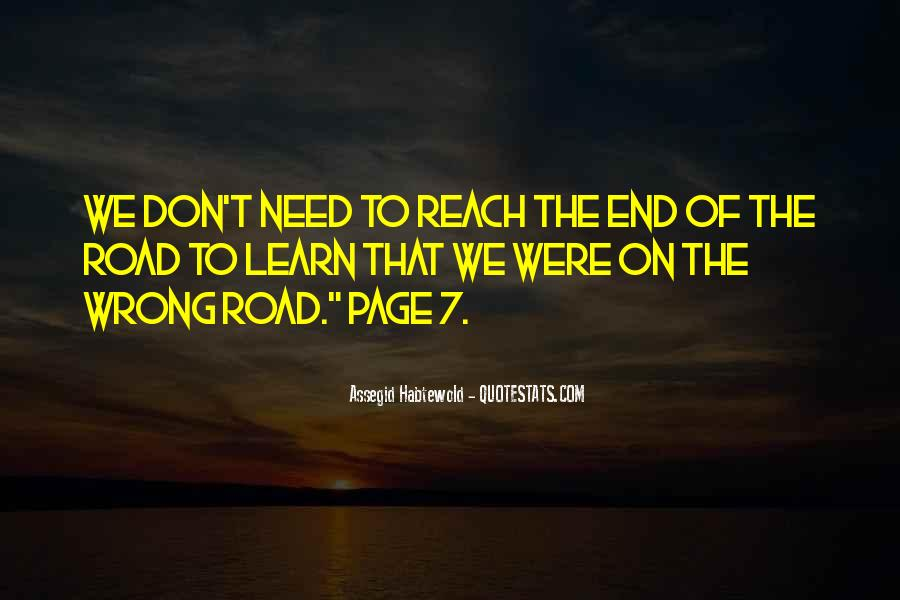 Quotes About The End Of The Road #972957