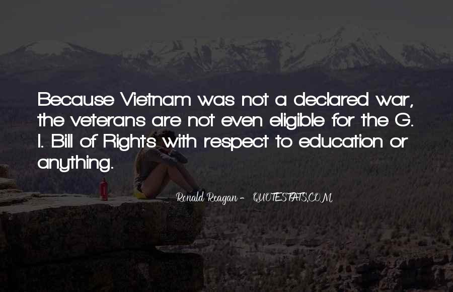 Quotes About Veterans Ronald Reagan #1593379