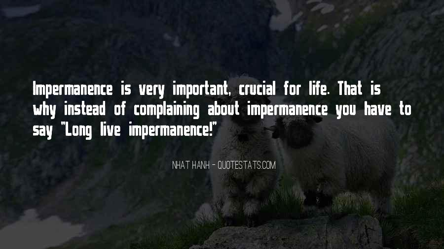 Quotes About Why Life Is Important #1384382