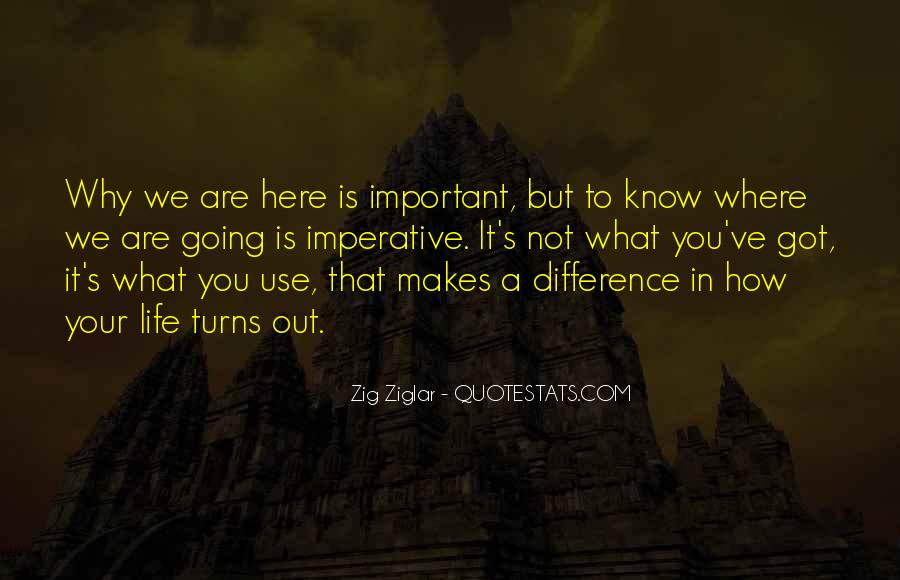 Quotes About Why Life Is Important #1639647