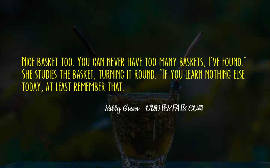Quotes About Baskets #930028