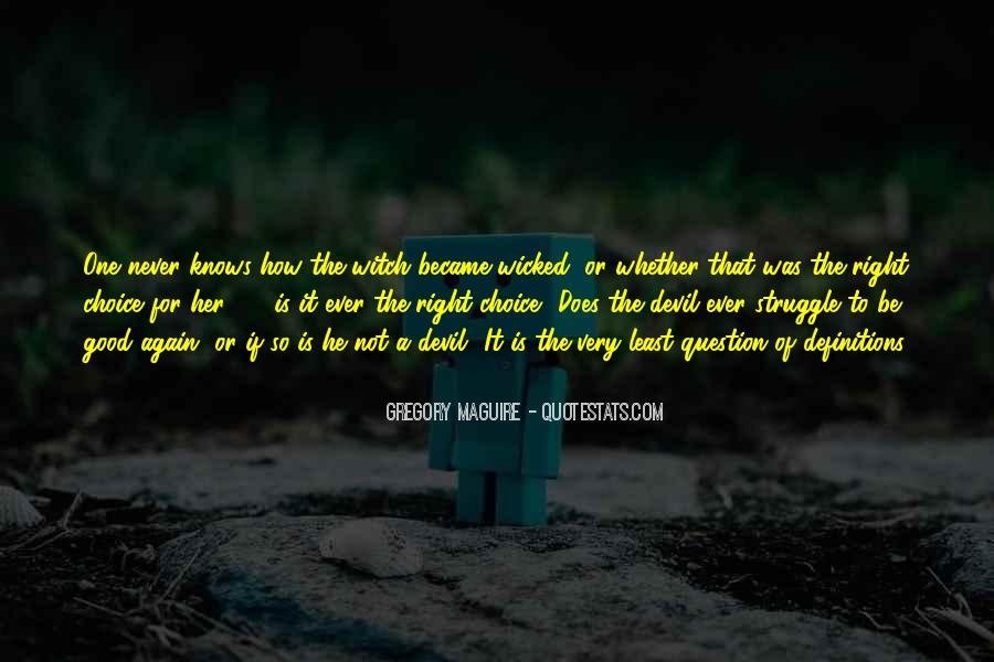 Quotes About The Choice Between Good And Evil #1680872
