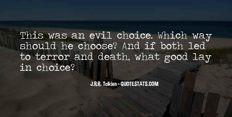 Quotes About The Choice Between Good And Evil #413767
