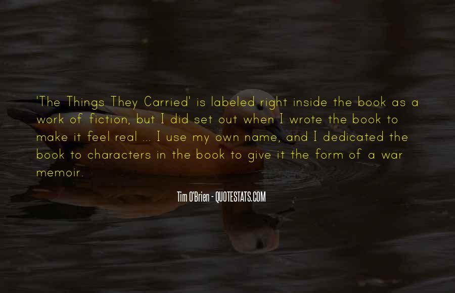 Quotes About The Things They Carried #150557