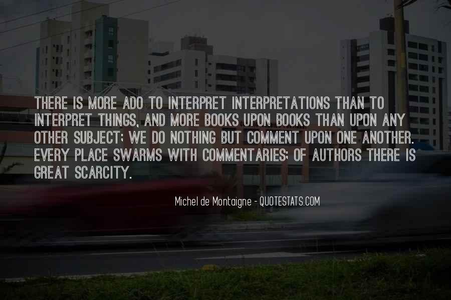Quotes About Interpretations #184860