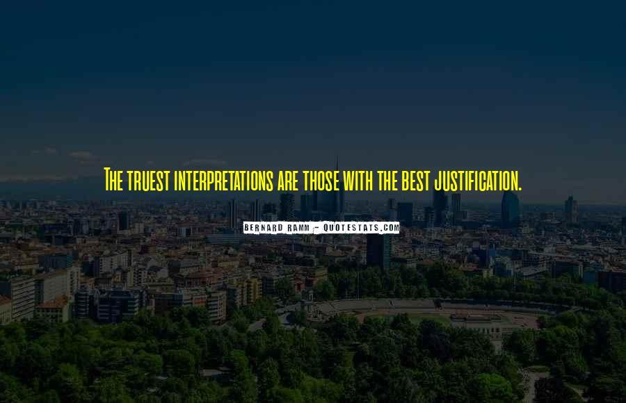 Quotes About Interpretations #18531