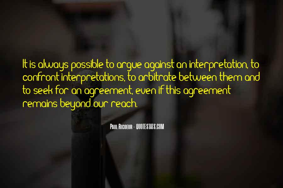 Quotes About Interpretations #241417