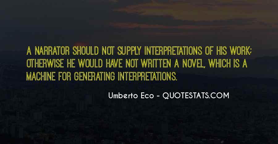 Quotes About Interpretations #406243