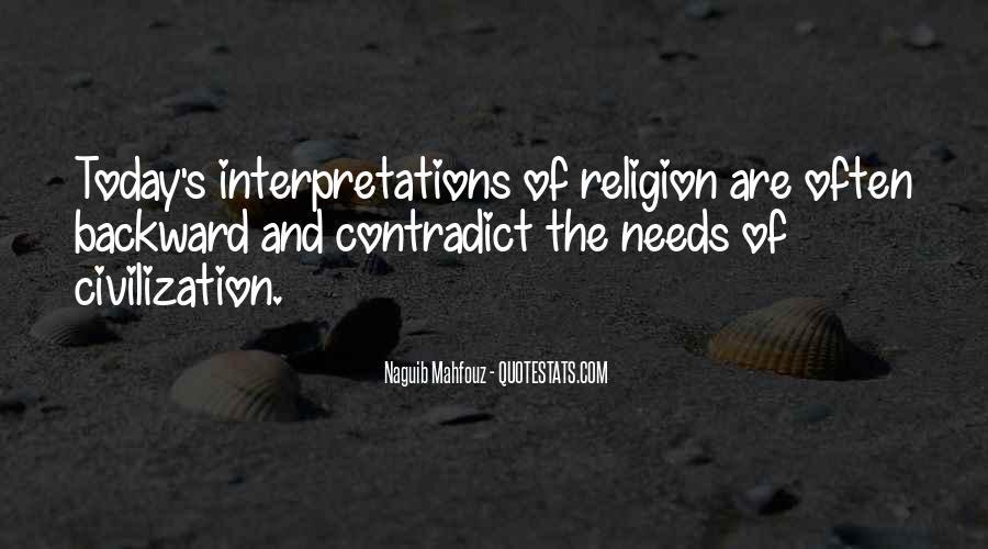 Quotes About Interpretations #755232