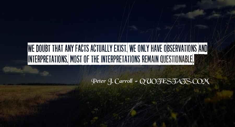 Quotes About Interpretations #822418