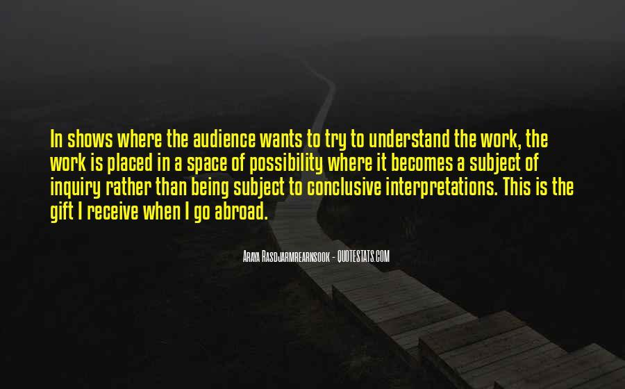 Quotes About Interpretations #911003