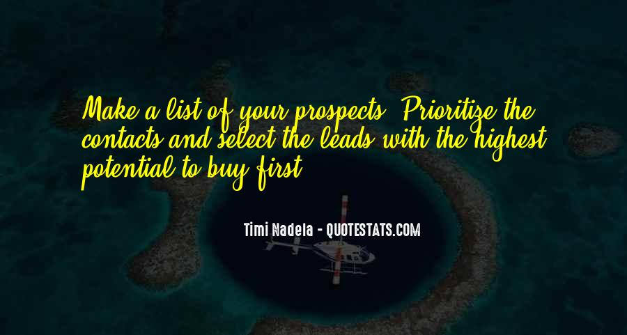 Quotes About Prioritize #1133366
