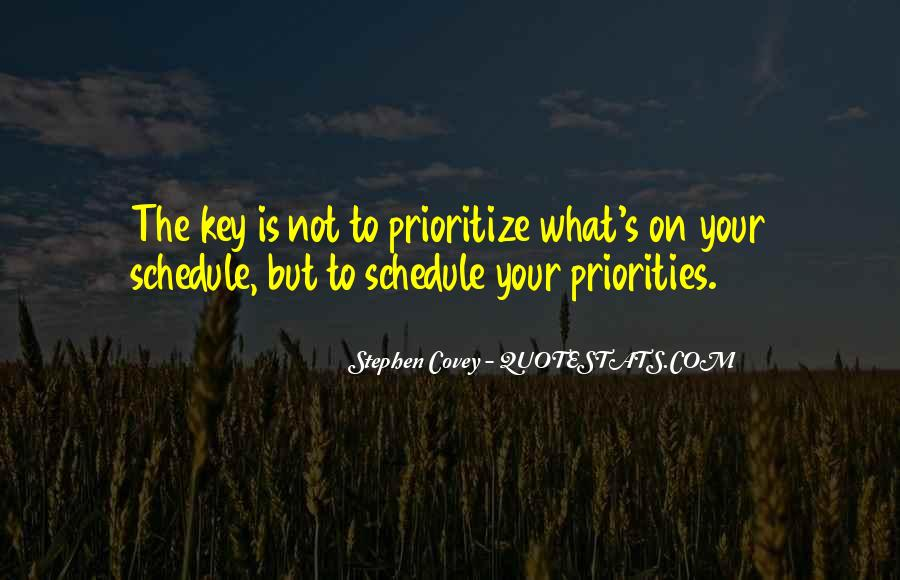Quotes About Prioritize #1326860
